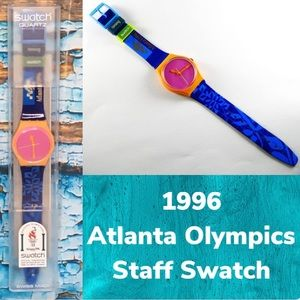 Vintage Swatch 1996 Atlanta Olympics Staff Watch